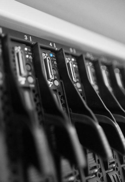 A series of data server ports.
