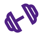 Weights Icon Purple