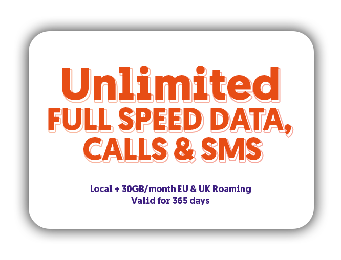 Unlimited full speed data calls and SMS Student Plan
