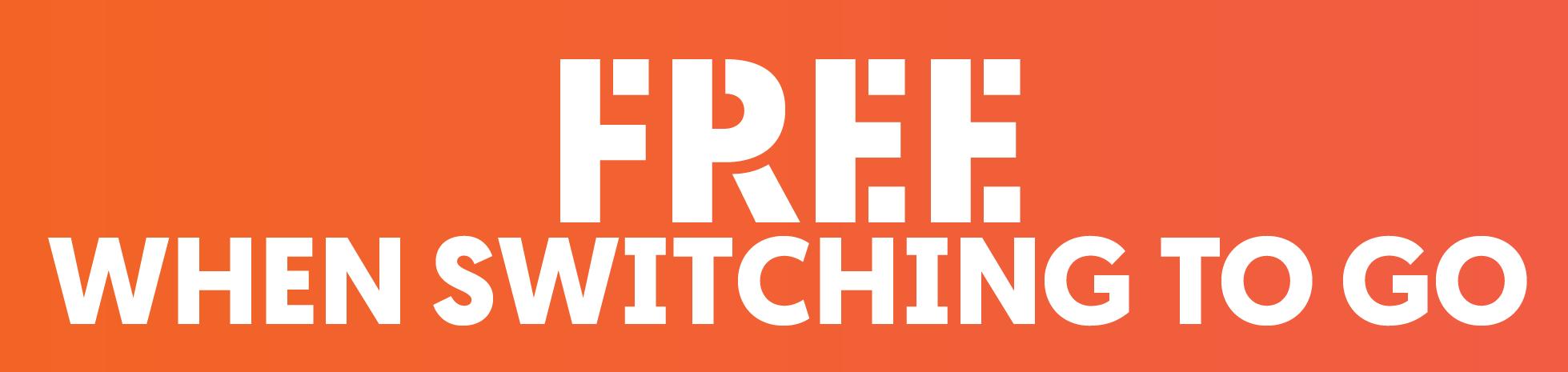 Free When Switching To Go Orange Sticker